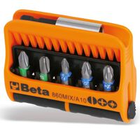 "Beta Tools 10-teilige Bits mit magnetischem Bithalter-Set ""860MIX/A10"""