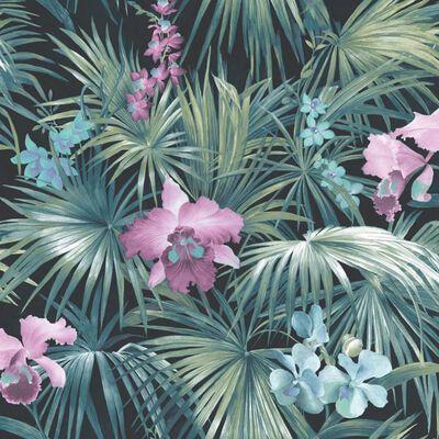 Noordwand Tapete Tropical Flowers Grün