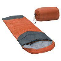 vidaXL Schlafsack Orange 10℃ 1000g
