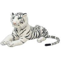 vidaXL Tiger Plüschtier Weiß XXL