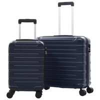 vidaXL Hartschalen-Trolley-Set 2 Stk. Marineblau ABS