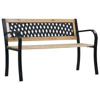 vidaXL Gartenbank 120 cm Holz