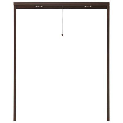 vidaXL Insektenschutzrollo für Fenster Braun 140x170 cm