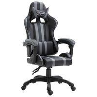 vidaXL Gaming-Stuhl Grau Kunstleder