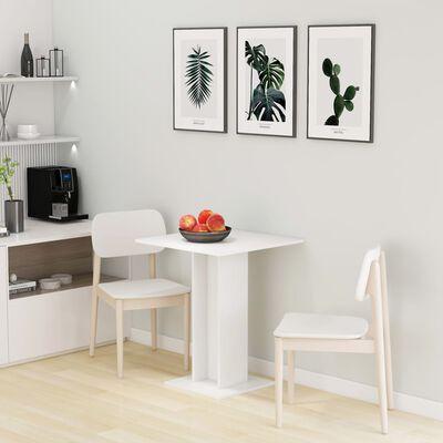 vidaXL Bistrotisch Weiß 60×60×75 cm Spanplatte