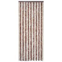 vidaXL Insektenschutz-Vorhang Beige und Hellbraun 56x200 cm Chenille