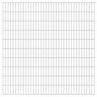 vidaXL 2D Gartenzaun-Elemente 2,008x2,03 m Gesamtlänge 28 m Silbern