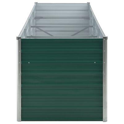 vidaXL Garten-Hochbeet Verzinkter Stahl 320x80x77 cm Grün