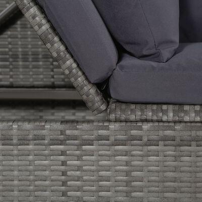 vidaXL Gartenbett Grau 200×60 cm Poly Rattan