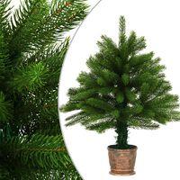 vidaXL Künstlicher Weihnachtsbaum Naturgetreue Nadeln 65 cm Grün