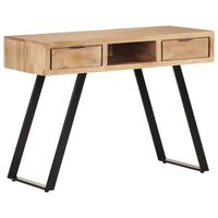 vidaXL Schreibtisch 110x50x75 cm Massivholz Akazie mit Naturkanten