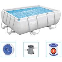Bestway Power Steel Swimmingpool-Set Rechteckig 282x196x84 cm