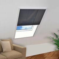 vidaXL Insektenschutz-Plissee für Fenster Aluminium Braun 60x80 cm