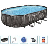 Bestway Power Steel Swimmingpool-Set Oval 488x305x107 cm
