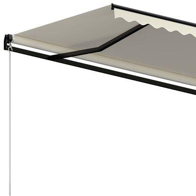 vidaXL Gelenkarmmarkise Einziehbar 500x300 cm Creme
