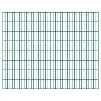 vidaXL 2D Gartenzaun-Elemente 2,008x1,63 m Gesamtlänge 1 m Grün