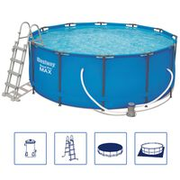 Bestway Steel Pro MAX Swimmingpool-Set Rund 366×122 cm 56420