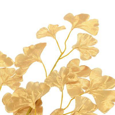 vidaXL Künstliche Blätter Ginko 10 Stk. Golden 65 cm