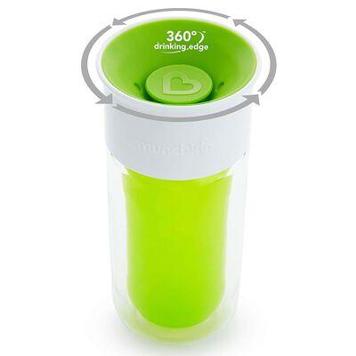 Munchkin Isolierter Trinkbecher Miracle 360° Personalisierbar Grün