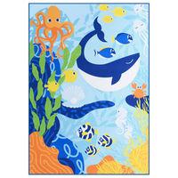 vidaXL Teppich Bedruckt Mehrfarbig 80x150 cm Stoff