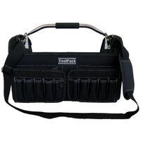 Toolpack Tragbare Werkzeugtasche Brisk Schwarz 49 x 30 x 37 cm 360.114