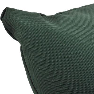 vidaXL 4-tlg. Kissenset für Schaukelstuhl Grün Stoff