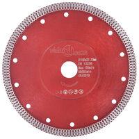 vidaXL Diamant-Trennscheibe mit Löchern Stahl 180 mm