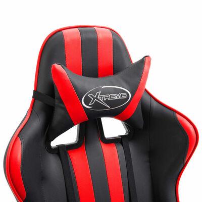 vidaXL Gaming-Stuhl mit Fußstütze Rot Kunstleder