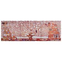 vidaXL Leinwandbild-Set Baum Gelb 120 x 40 cm