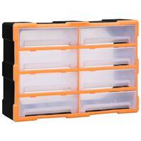 vidaXL Multi-Schubladen-Organizer 8 große Schubladen 52x16x37 cm