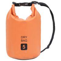 vidaXL Trockensack Orange 5 L PVC