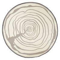 Esschert Design Outdoor-Teppich 170 cm Durchmesser Jahresringe