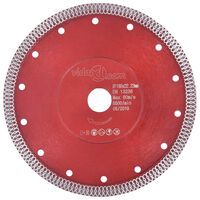 vidaXL Diamant-Trennscheibe mit Löchern Stahl 230 mm