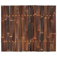 vidaXL Gartenzaun-Element Bambus 120x100 cm Dunkelbraun