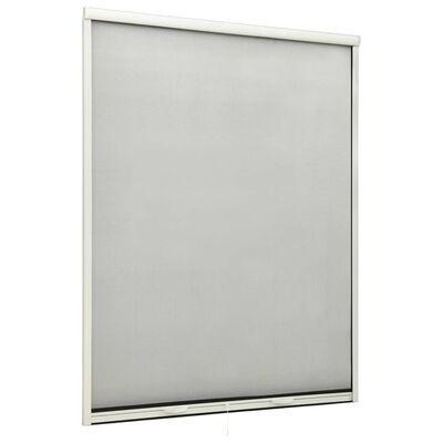 vidaXL Insektenschutzrollo für Fenster Weiß 130x170 cm