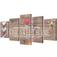 Bilder Dekoration Set Home Sweet Home 100 x 50 cm