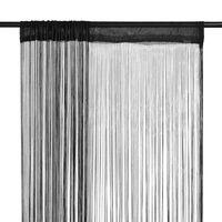 vidaXL Fadenvorhänge 2 Stk. 140 x 250 cm Schwarz