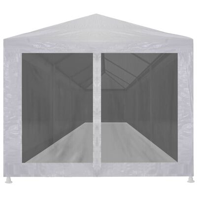 vidaXL Partyzelt mit 10 Mesh-Seitenwänden 12 x 3 m