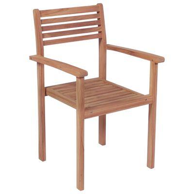 vidaXL Gartenstühle 2 Stk. mit Beige Kissen Massivholz Teak