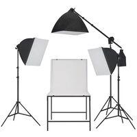 vidaXL Fotostudio Softbox Beleuchtungs-Kit mit Aufnahmetisch