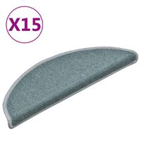 vidaXL Treppenmatten 15 Stk. Blau 56x17x3 cm