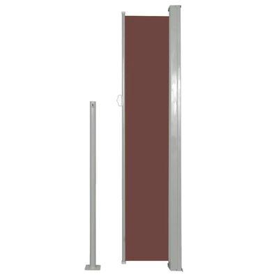vidaXL Ausziehbare Seitenmarkise 160 x 500 cm Braun