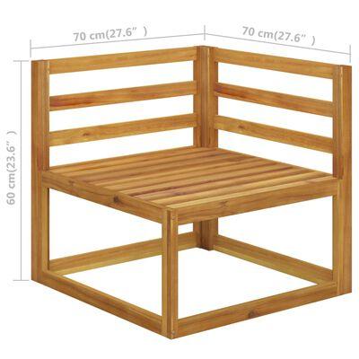 vidaXL 4-Sitzer-Gartensofa mit Auflage Akazie Massivholz