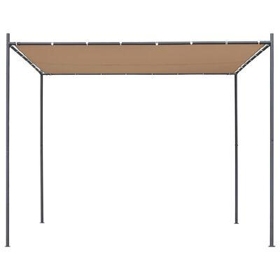 vidaXL Gartenpavillon mit Flachdach 3x3x2,4 m Beige