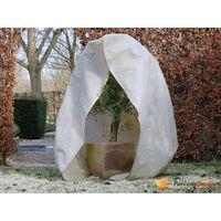 Nature Wintervlies mit Reißverschluss 70 g/m² Beige 2×1,5×1,5 m