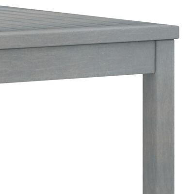 vidaXL 5-tlg. Garten-Lounge-Set mit Auflagen Massivholz Akazie Grau