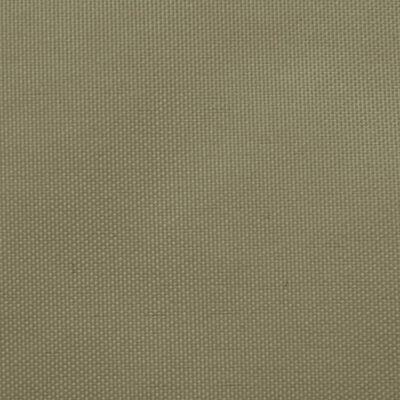vidaXL Sonnensegel Oxford-Gewebe Trapezförmig 4/5x3 m Beige