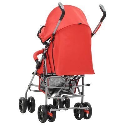 vidaXL 2-in-1 Kinderwagen Buggy Klappbar Rot Stahl