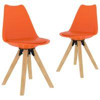 vidaXL Esszimmerstühle 2 Stk. Orange