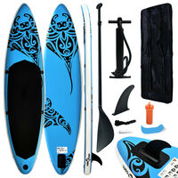 vidaXL Aufblasbares Stand Up Paddle Board Set 320x76x15 cm Blau